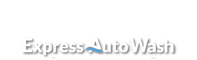 Express AutoSpa logo in white with legal text above